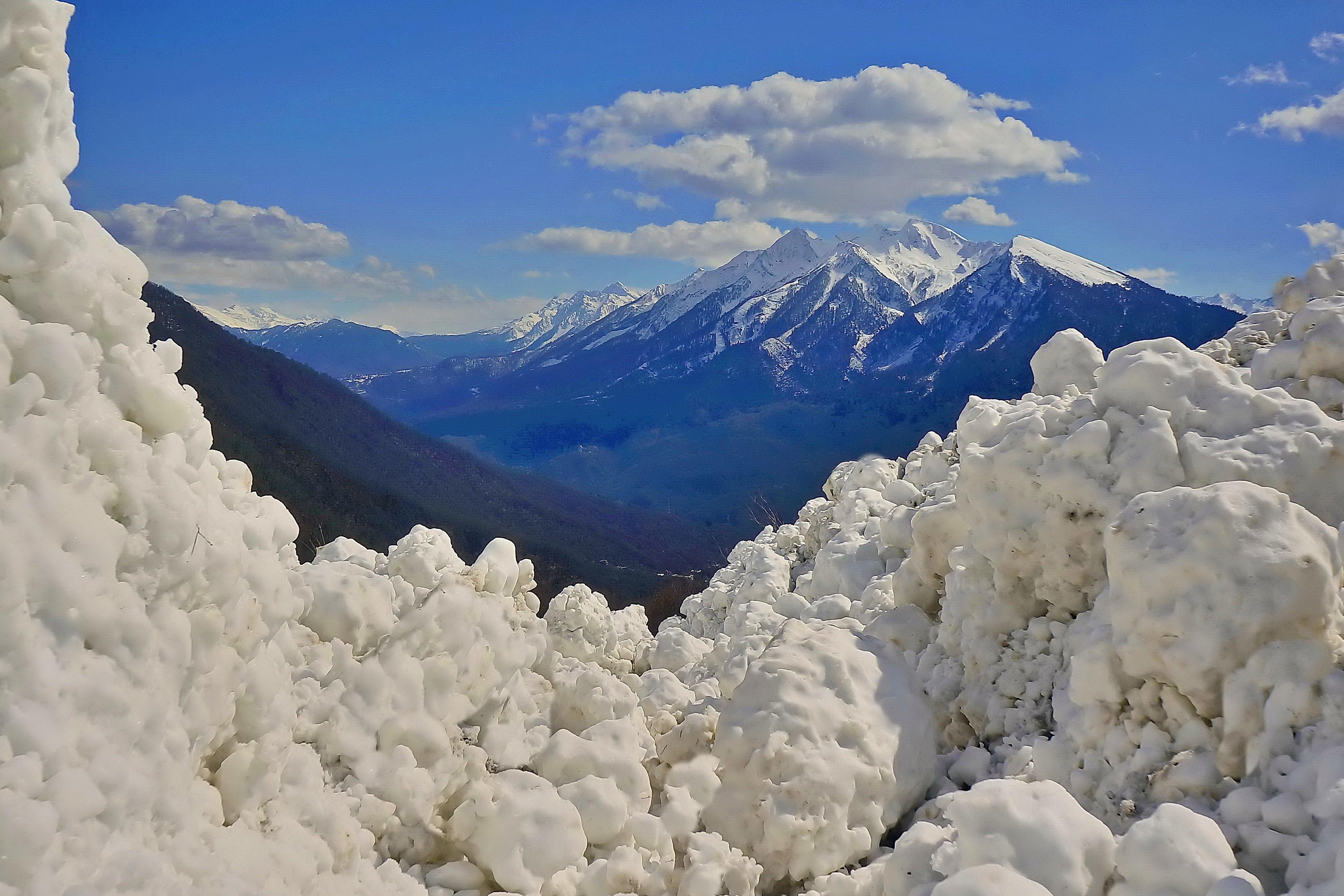 весна лавина горы, Никишин Евгений