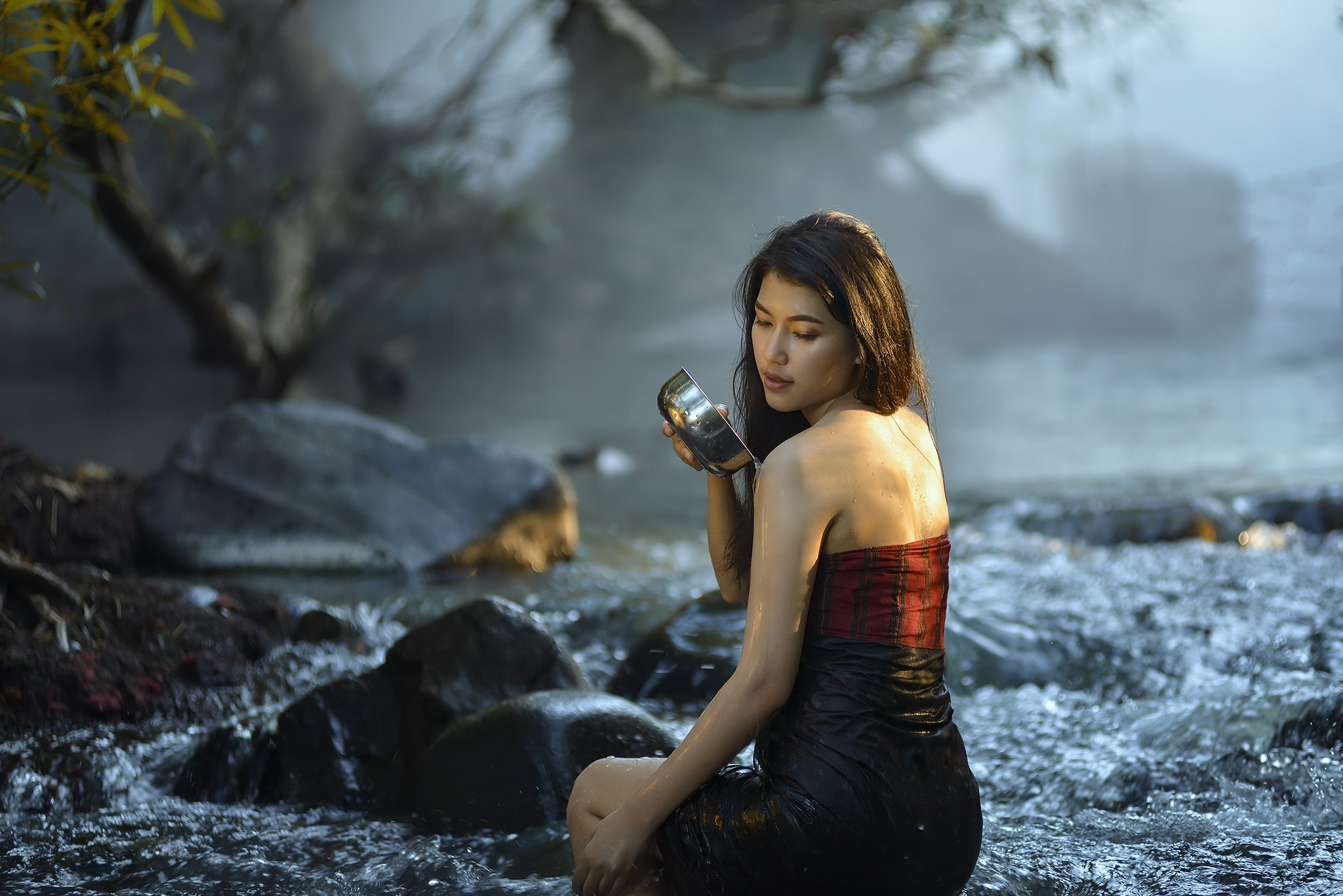 Asia, Asian, Beautiful, Culture, Fashion, Girl, River, Women, Saravut Whanset
