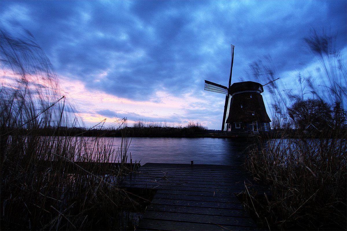 Амстердам, Голландия, Мельницы, Нидерланды, Андрей