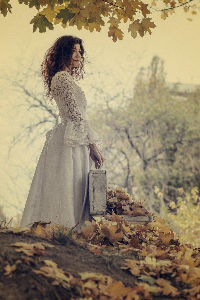 девушка, осень, портрет, valeko