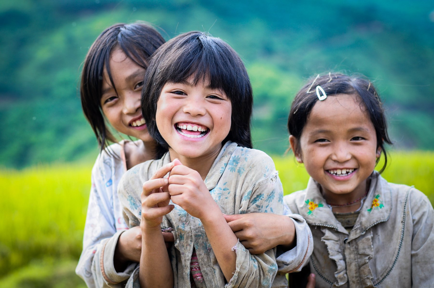 Baby, Beautiful, Child, Cute, Girl, Happy, Innocent, Kids, Lovely, Nation, Northwest of Vietnam, Poor, Smile, South east asia, Teeth, Trungducphoto, Nguyen Trung Duc