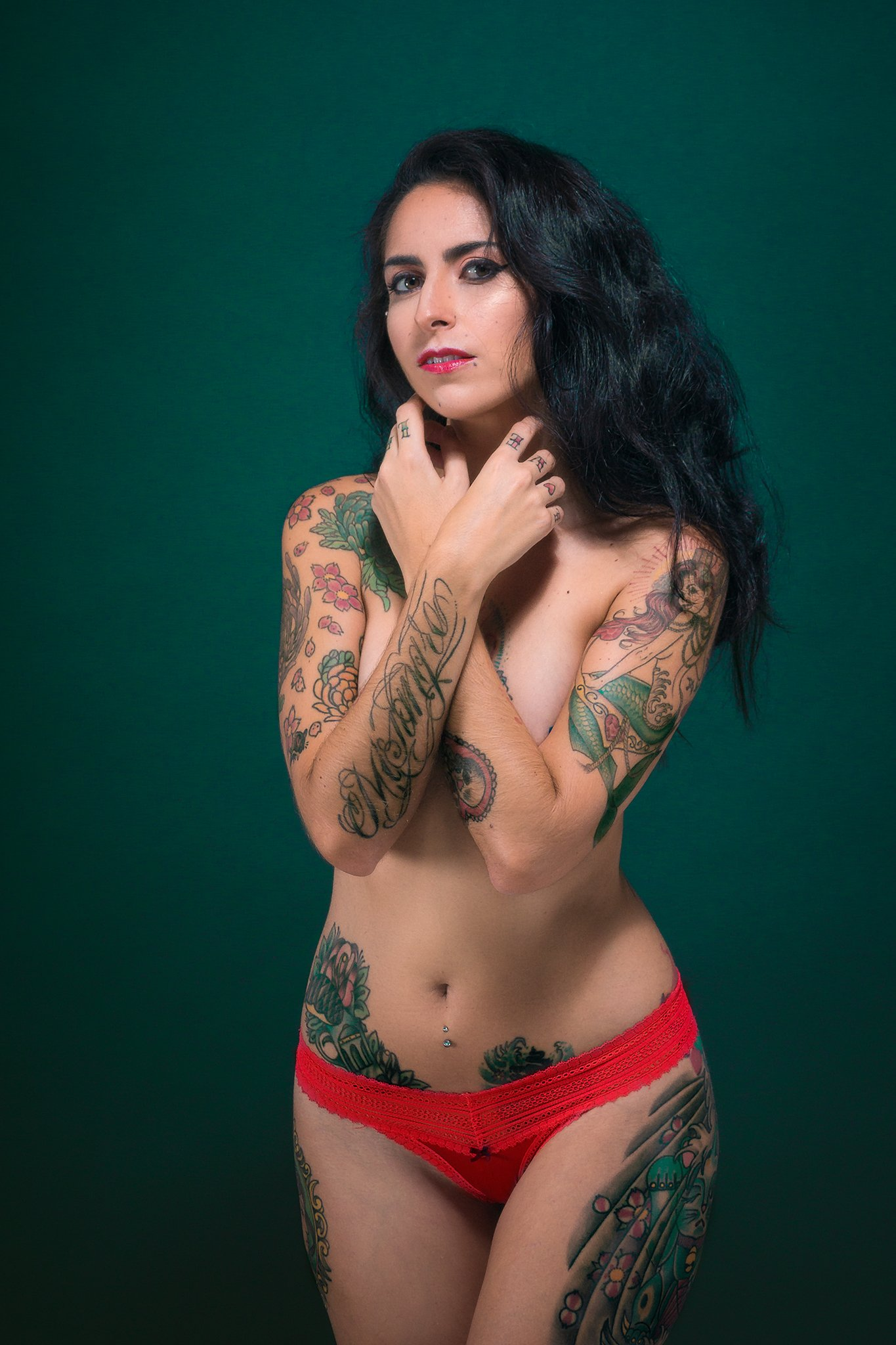 portrait, tattoo, ink, model,, Eduardo Hernández