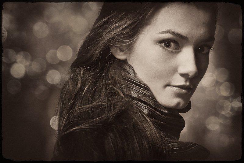 портрет, студия, девушка, Олег Бородяев