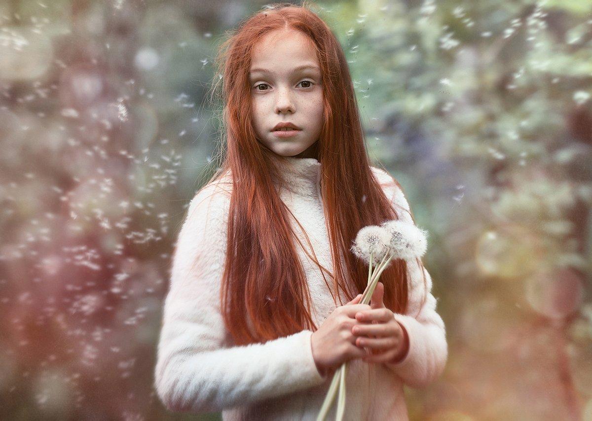 Девочка, Одуванчики, Рыжая, Ярунин Олег