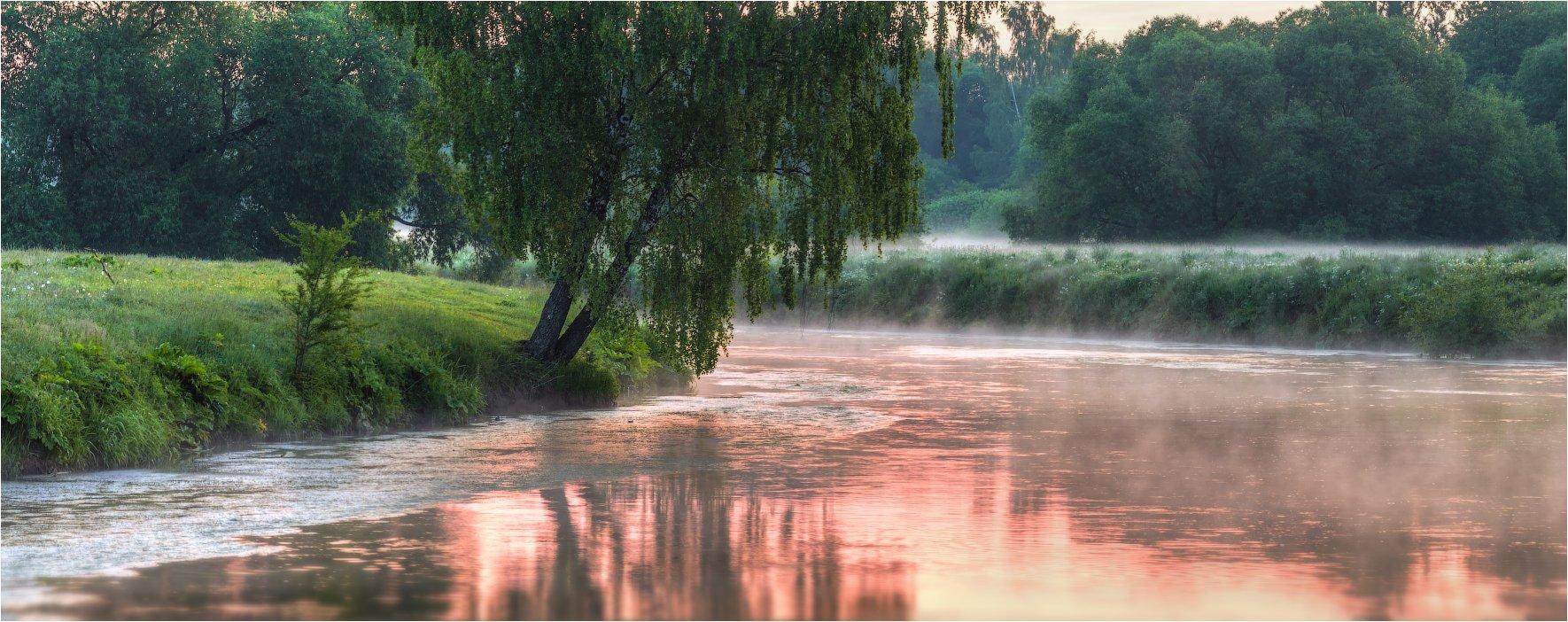 дымка, май, рассвет, река, Сергей Шабуневич