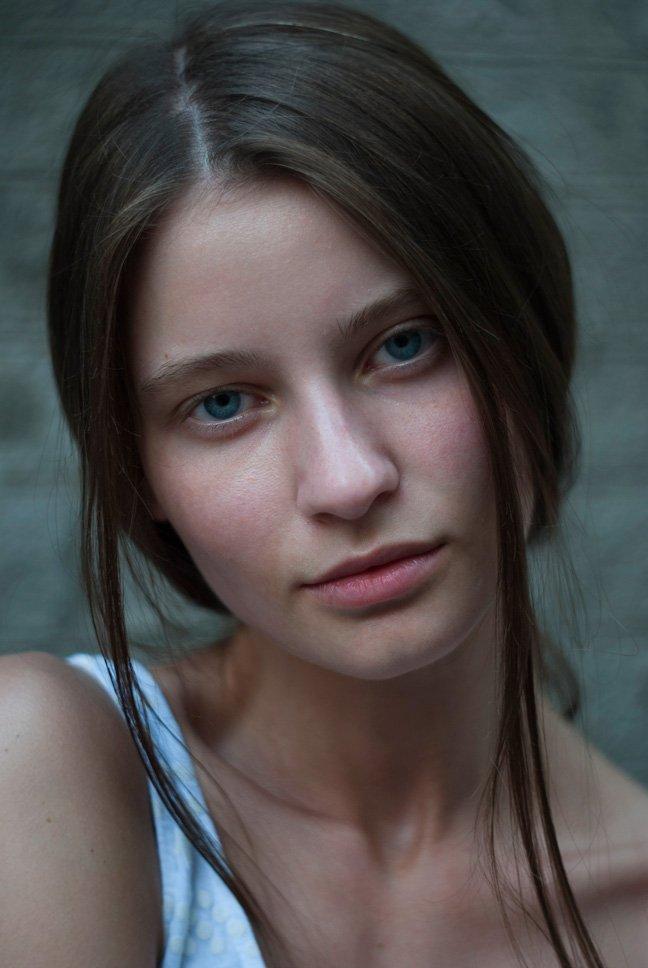 портрет, девушка, голубые глаза, Staroselets Anastasiia