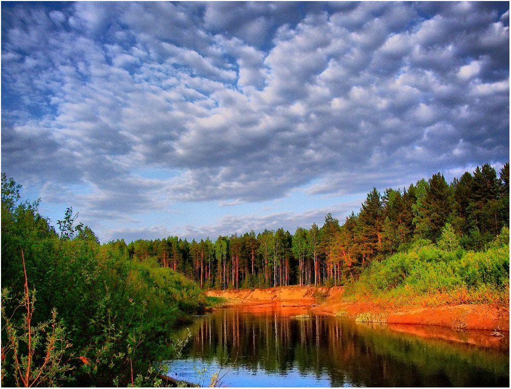 пейзаж,небо,река,лес,удмуртия, Андрей,любитель 35photo