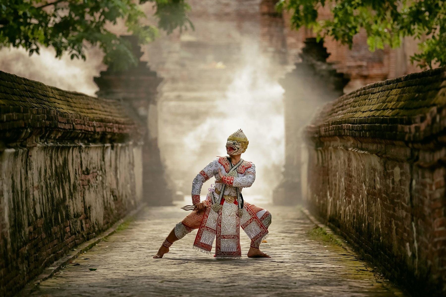 thailand,performance,ramayana,monkey,arts,asia,asian, ADIREK M