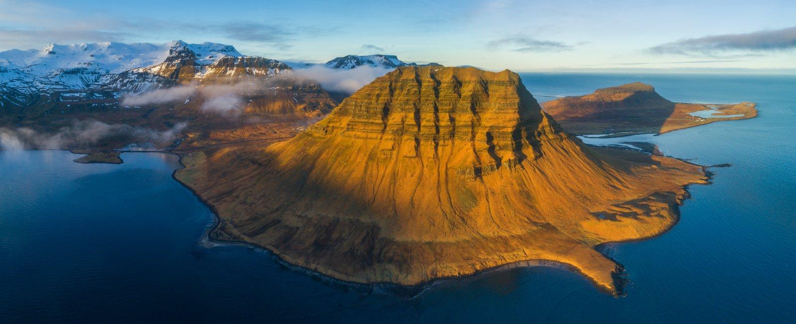 iceland, kirkjufell, исландия, горы, киркъюфелль, аэро, aerial,, Вадим Балакин