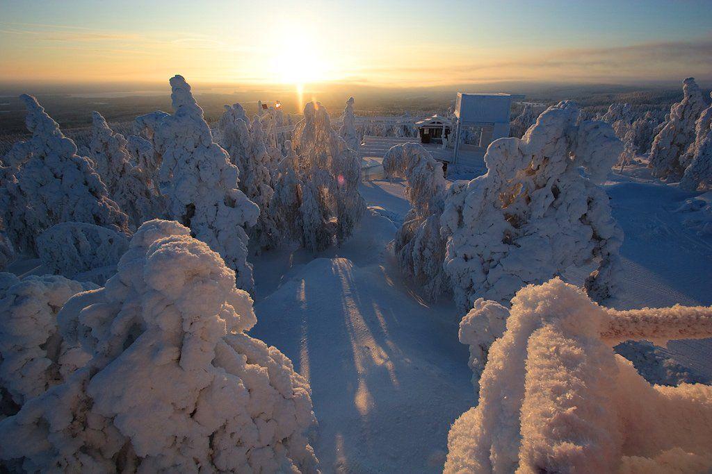 финляндия, вуокатти, горные, лыжи, Михаил