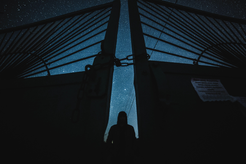 ночь звезды пейзаж арт ночное, Воронин Вова
