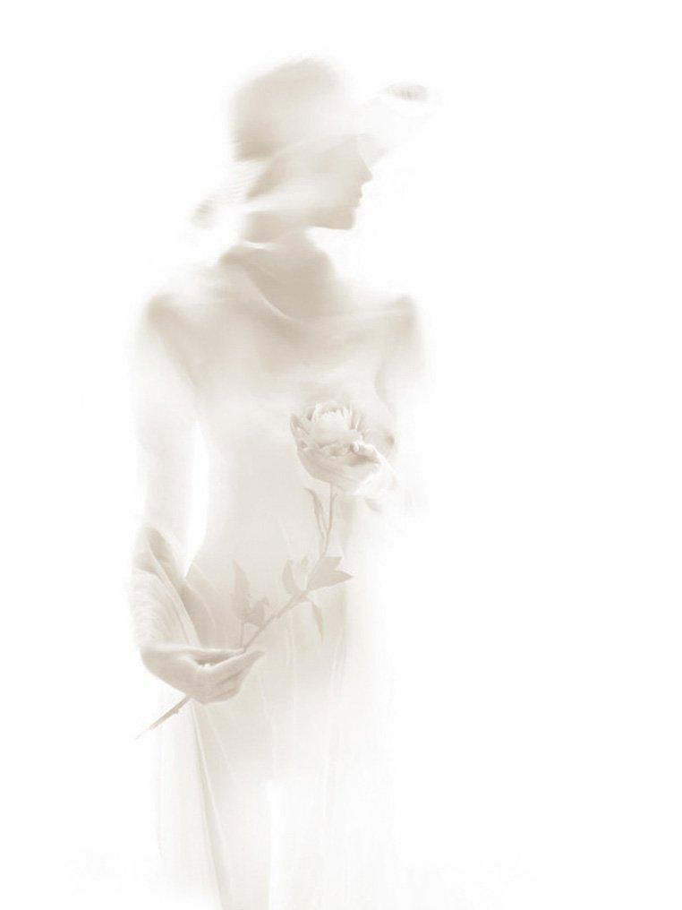 девушка, шляпа, цветок, Rita Gadar