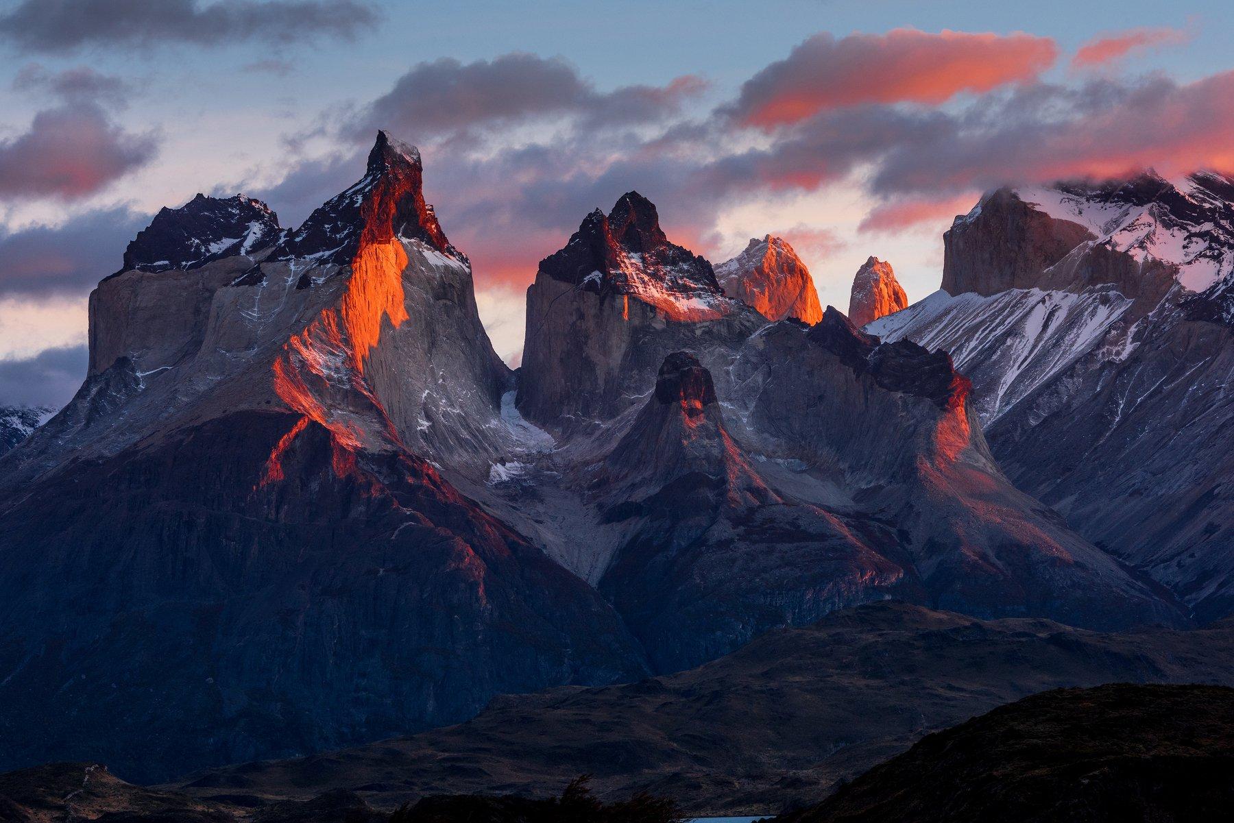 Патагония, Чили, озеро Пеое, Торрес дель Пайне, Владимир Рябков