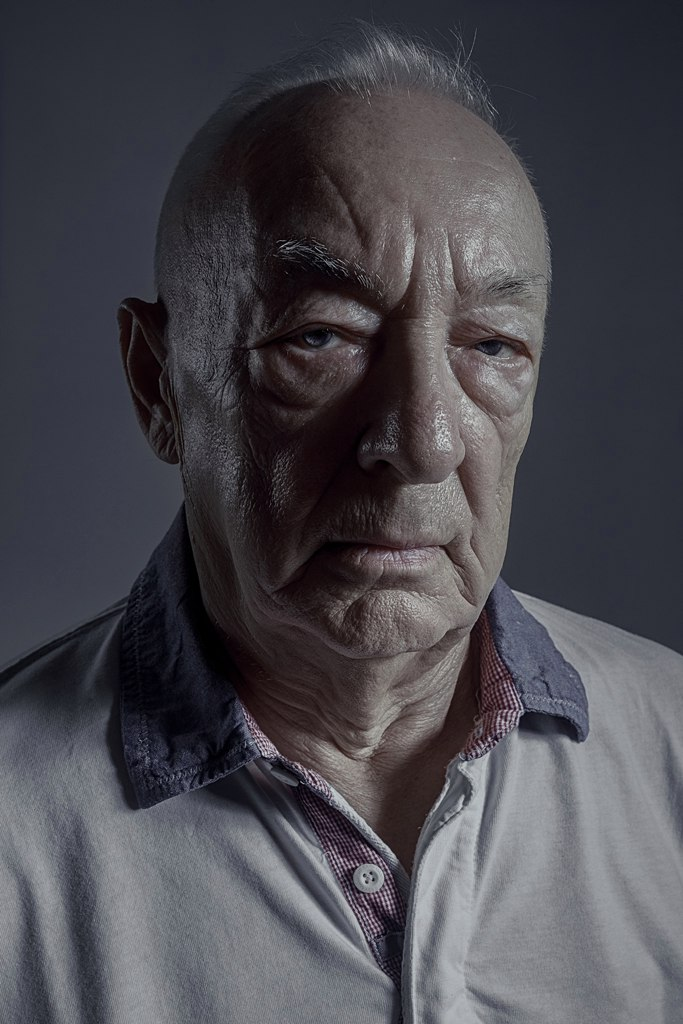old, man, portrait, light, dark, volume, eyes, emotion, bald, brutal, Гладков Степан