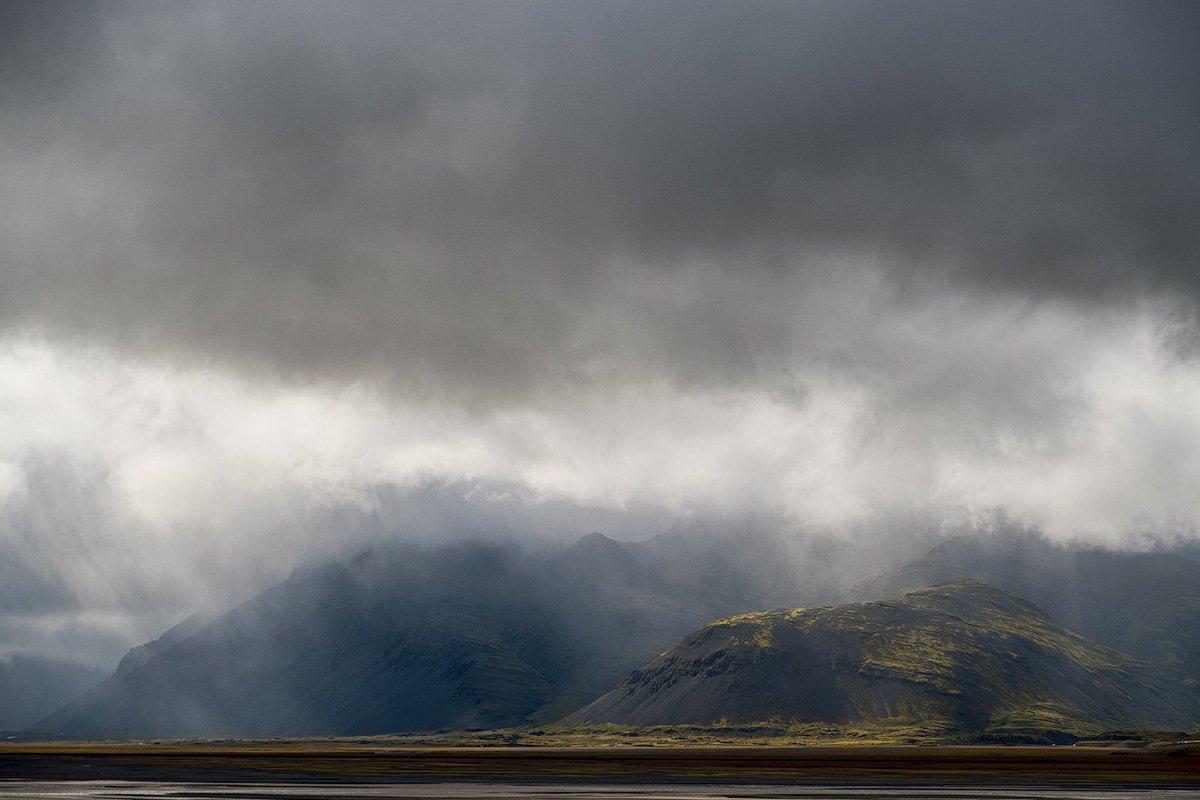 пейзаж, исландия, природа, путешествие, океан, гроза, дождь, горы, iceland, landscape, mountains, trip, traveling, rain, Mendor