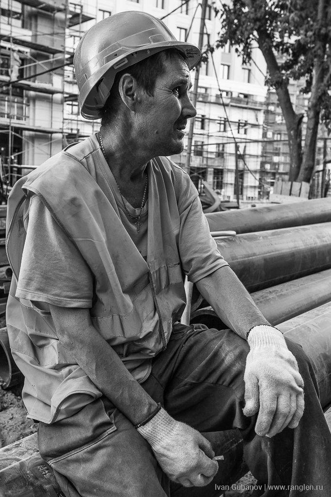 строитель, человек, мужчина, рабочий, жанр, Иван Губанов