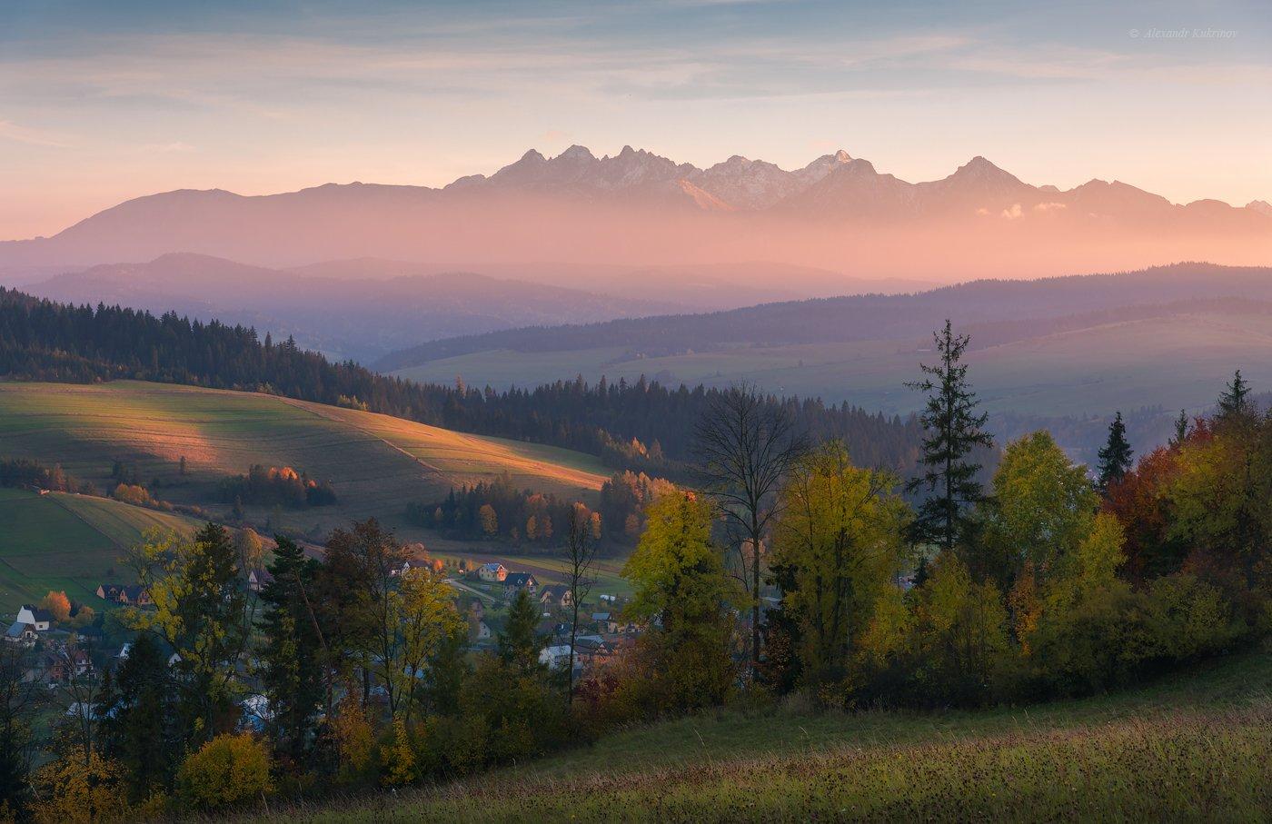 пейзаж, закат, татры, Александр Кукринов