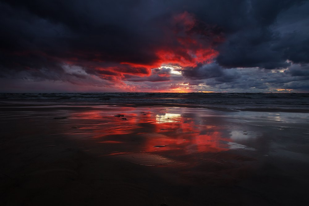 sunset, landscape, Aleksandr Kljuchenkow