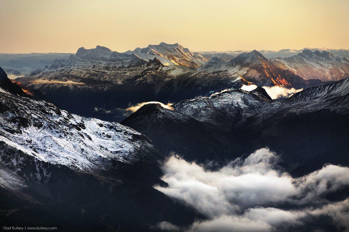 Альпы, Восхождение, гора, горы, закат, рассвет, Франция, Монблан, Владимир Куцый (Vlad Kutsey)
