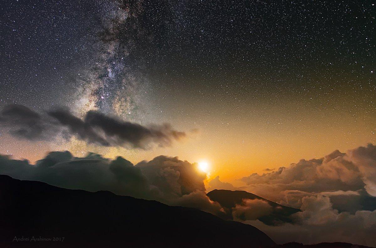 nepal, milky way, stars, lantang, clousky, travel, soft light,, Soft Light