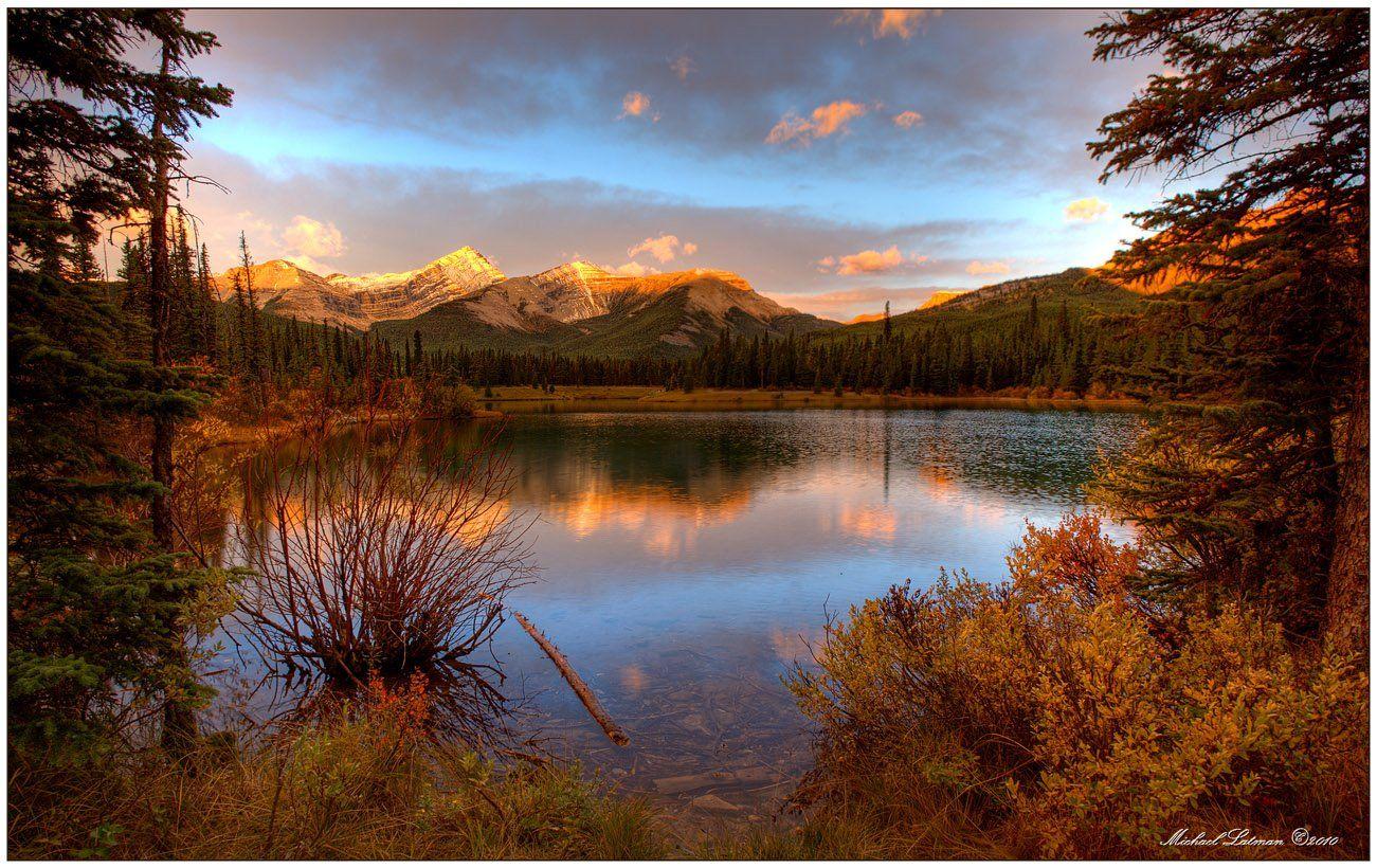 mountains, fall, sunrise, Michael Latman