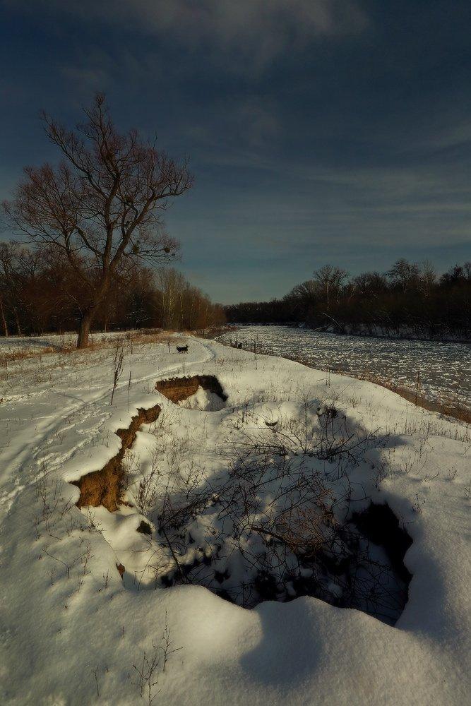 зима,река,снег, январь,яма, Петриченко Валерий