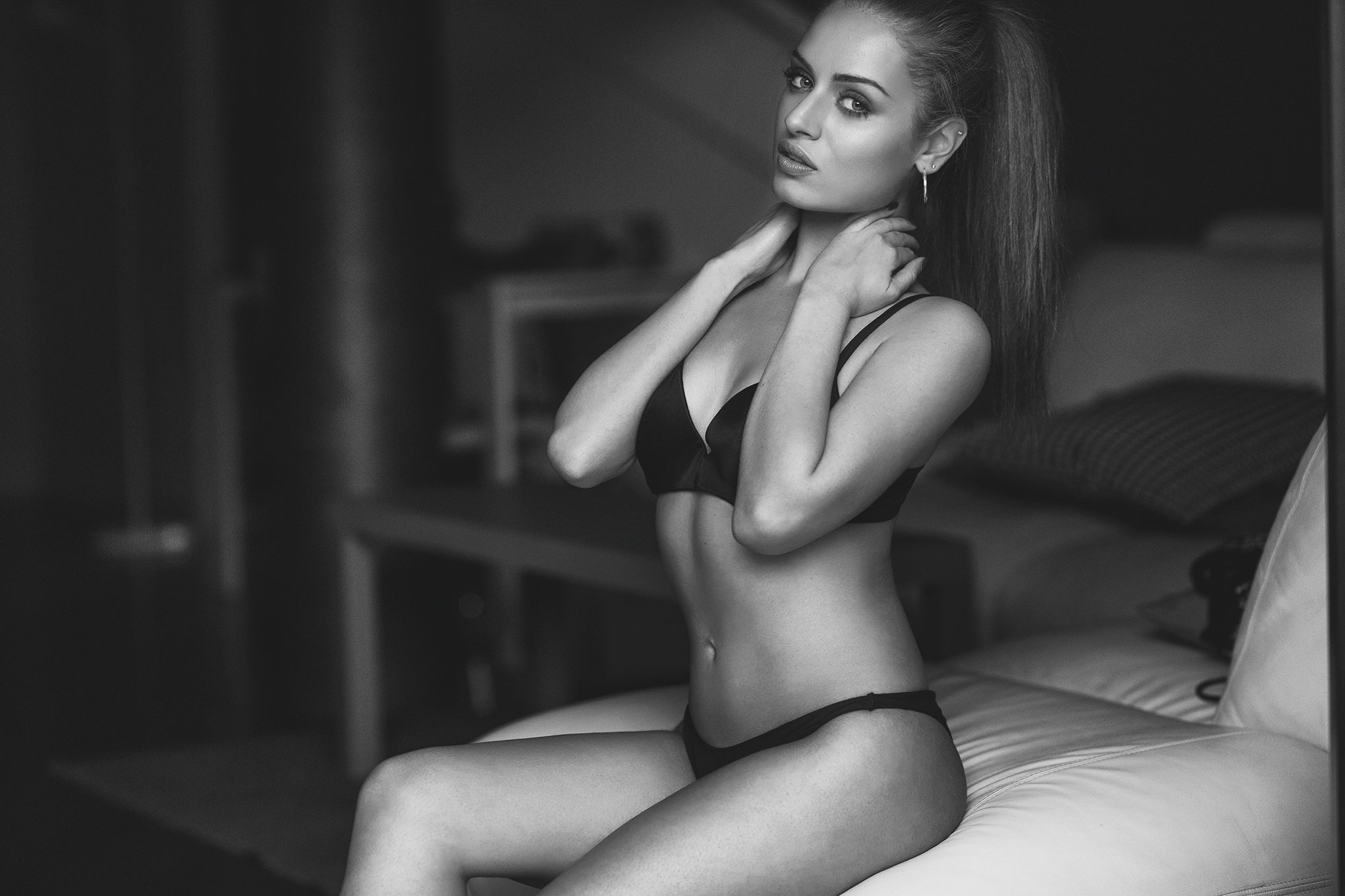 model,glamour,lingerie,blackandwhite,, roberto demaria