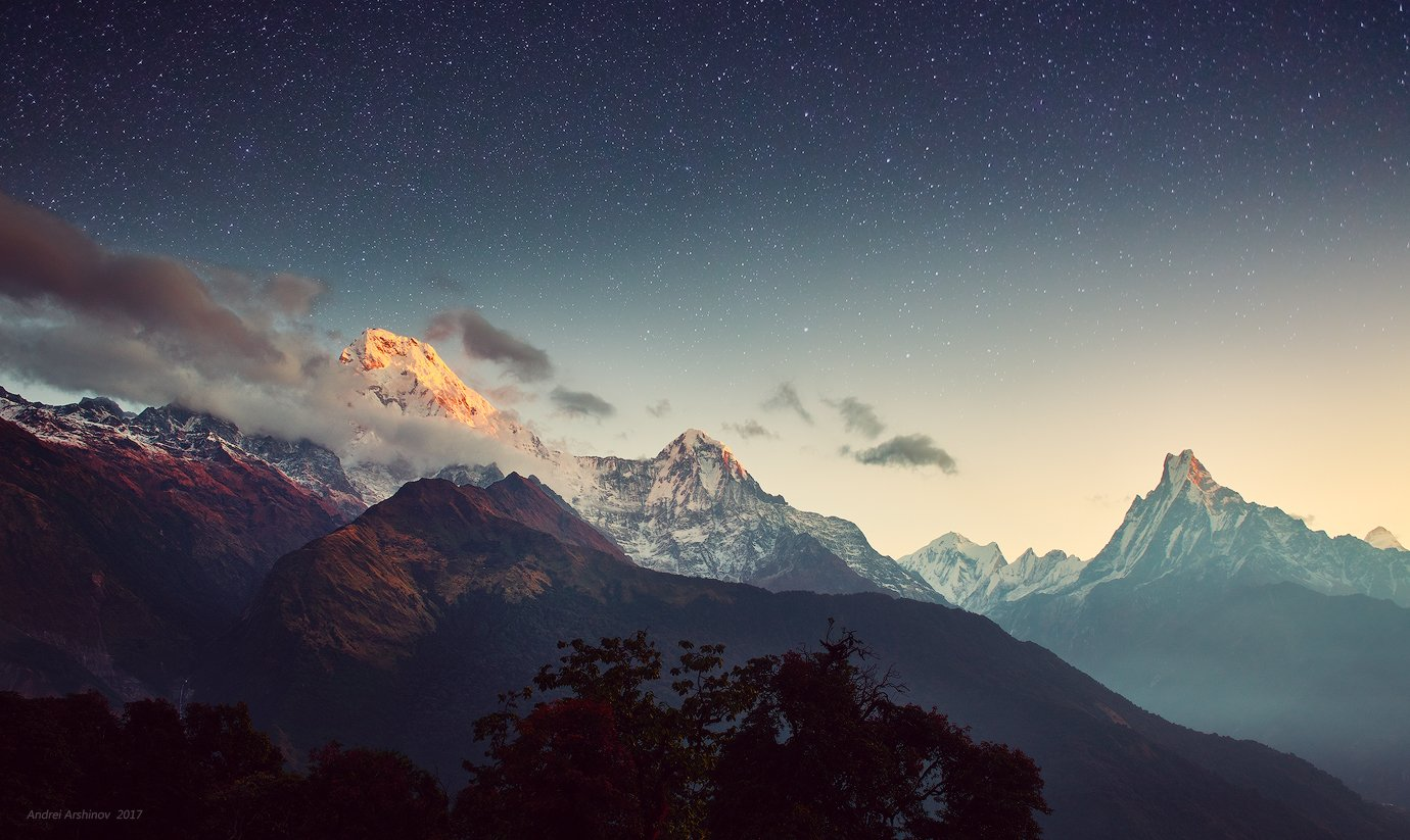 непал, soft light, travel, scenic, mountains, Soft Light