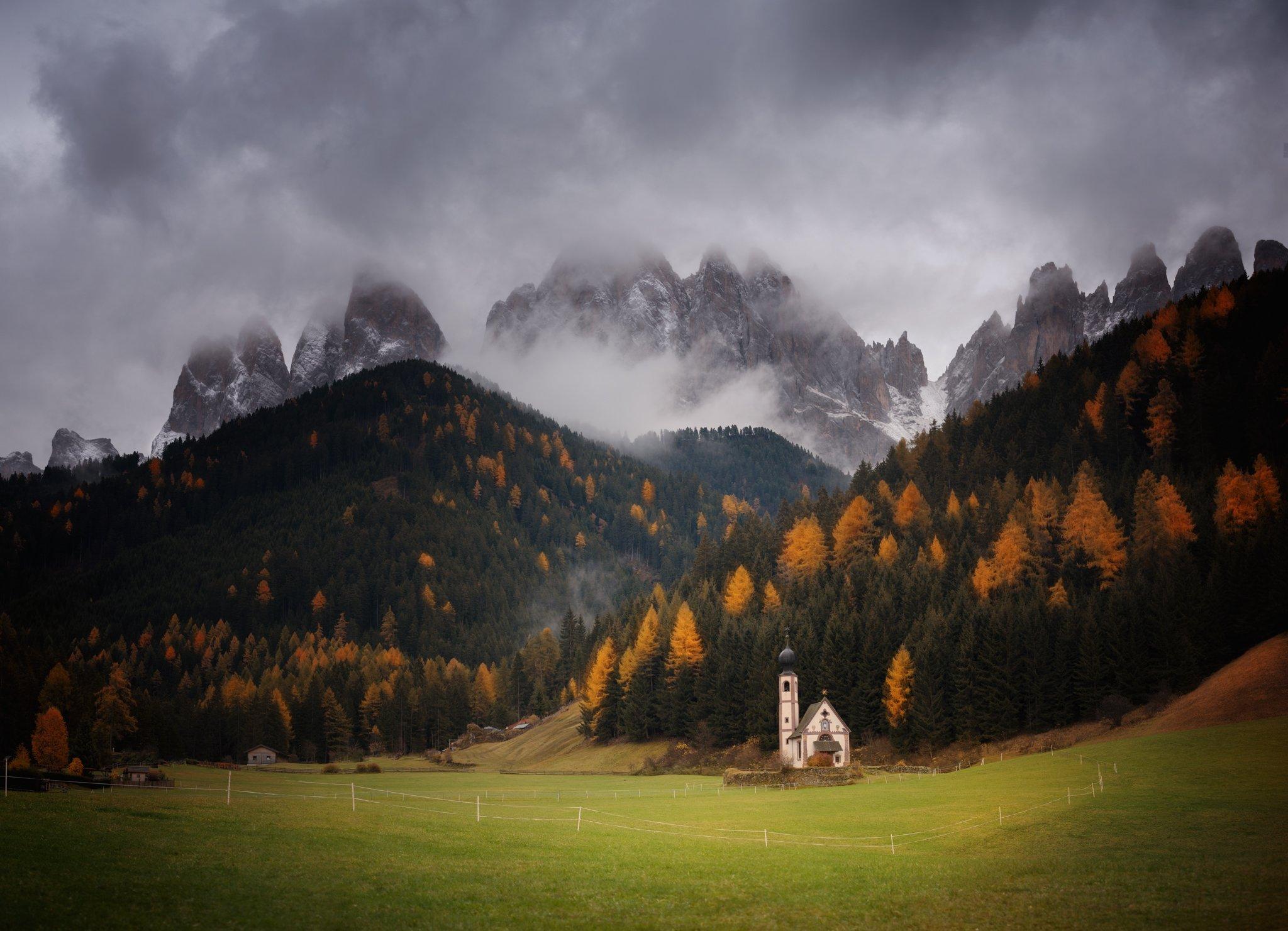 Santa Maddalena, Dolomites, Italy, church, Georgi Mitev