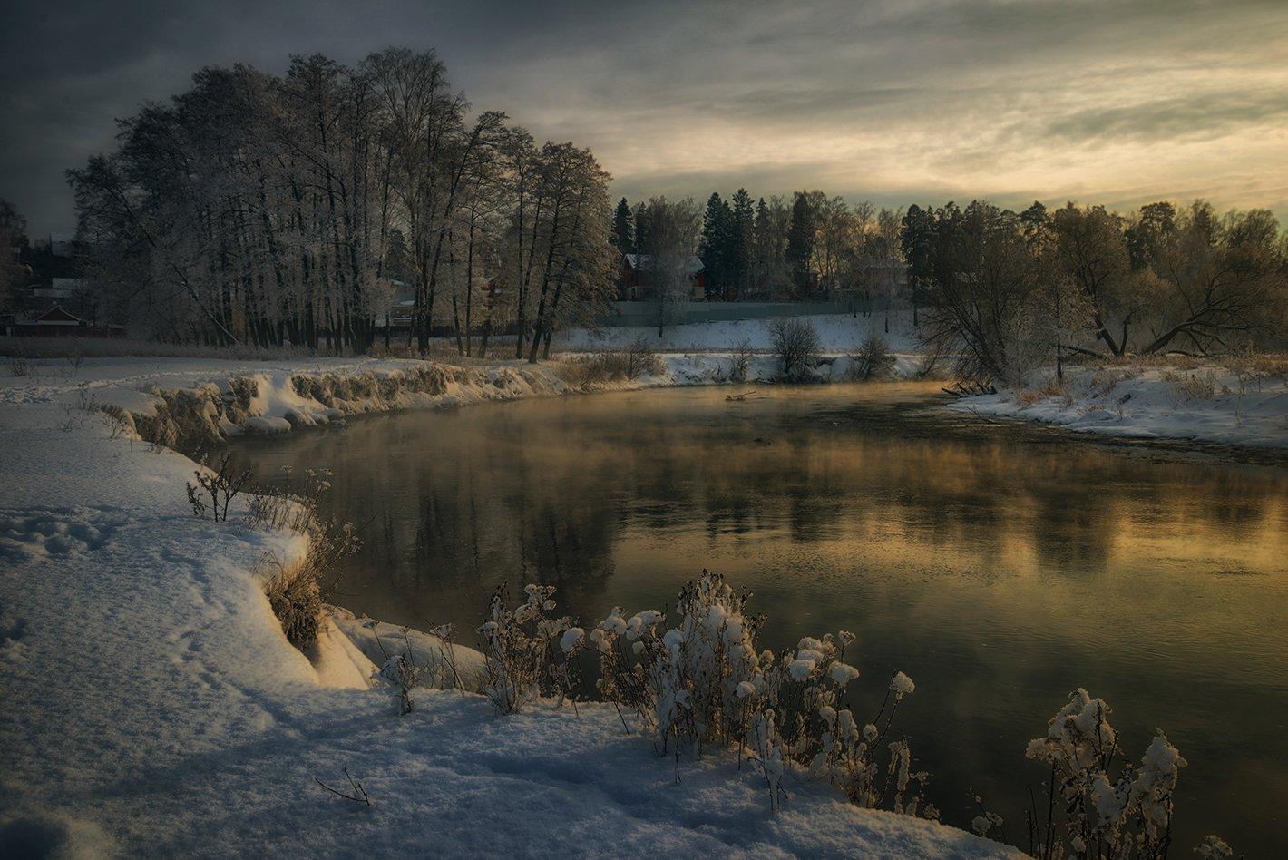 зима река пехорка, Евгений Иванюшенко