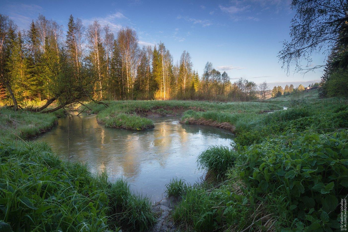 утро, рассвет, река, волим, лето, пермский край, Владимир Ушаков