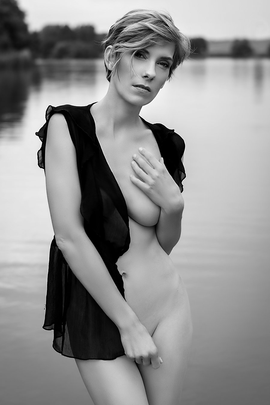 model, nude, lingerie, glamour, woman, female, black and white, body, sexy, sensual, natural light, curves, portrait, erotica, fine art, fashion,, Lajos Csáki
