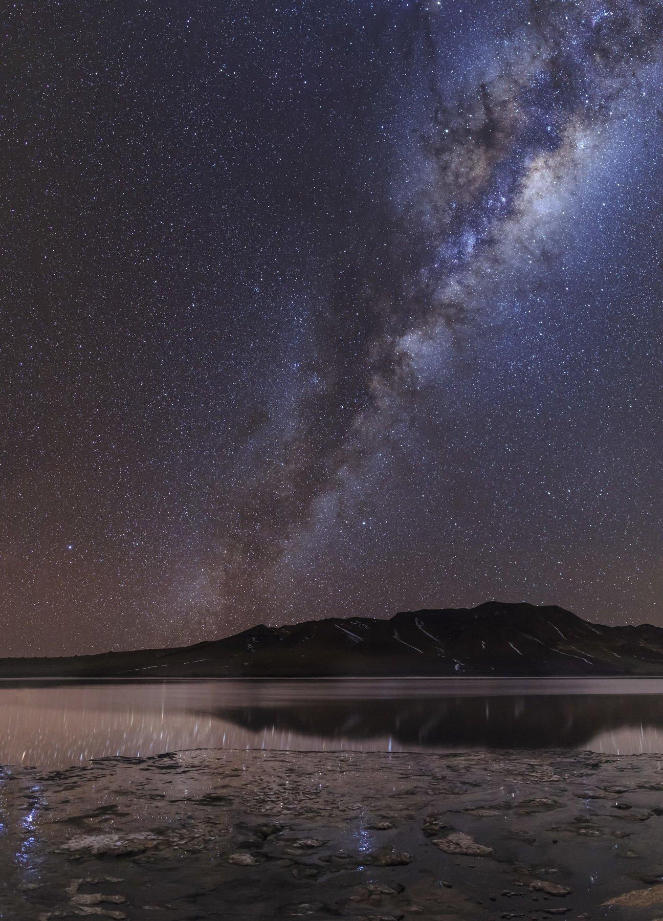 Млечный путь, Чили, Алтиплано, отражение, Vitalis Vasylius