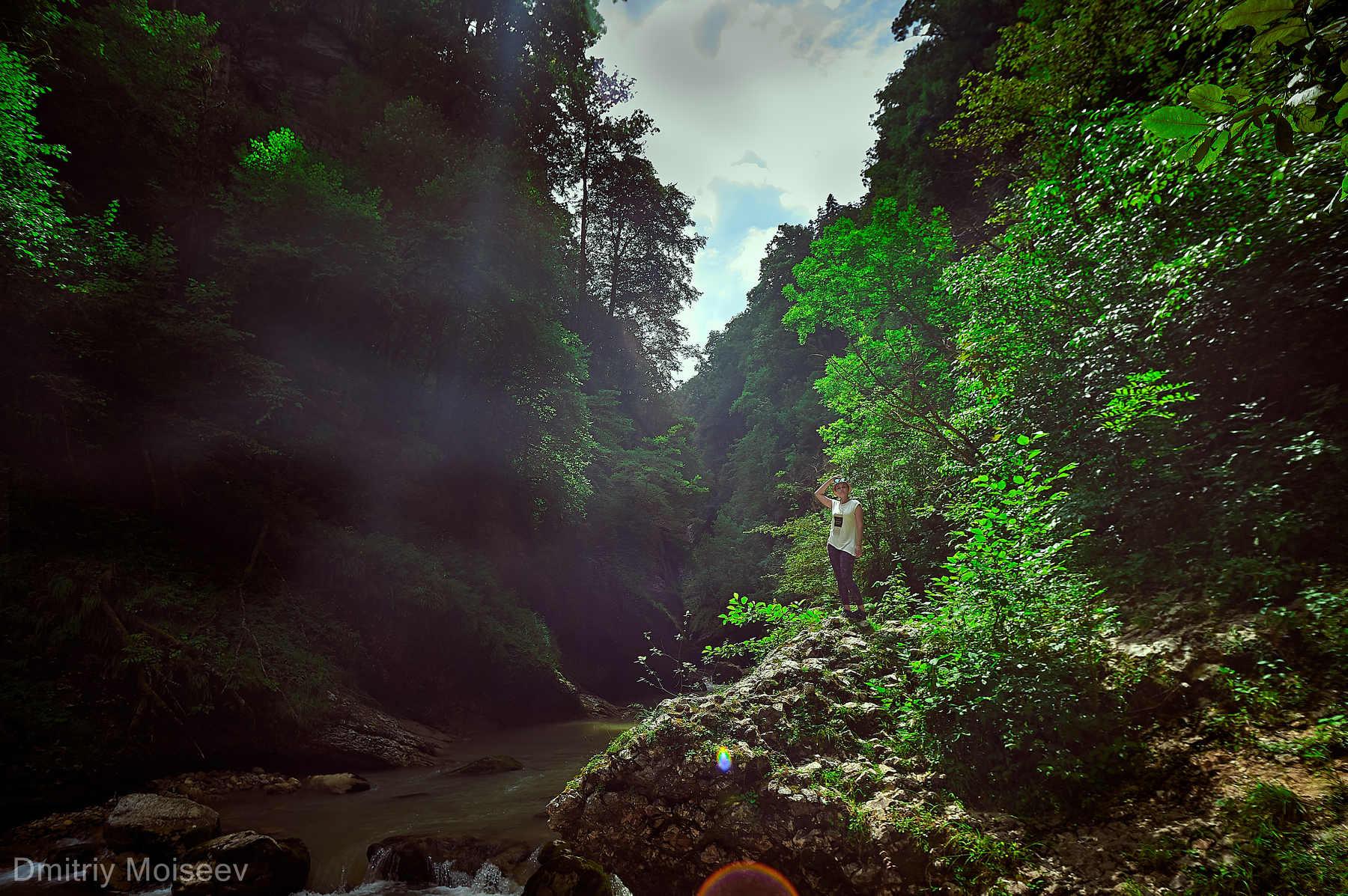 гуамка, гуамскоеущелье, краснодар, горы, реки, скалы, girl, природа, ущелье, Дмитрий Моисеев