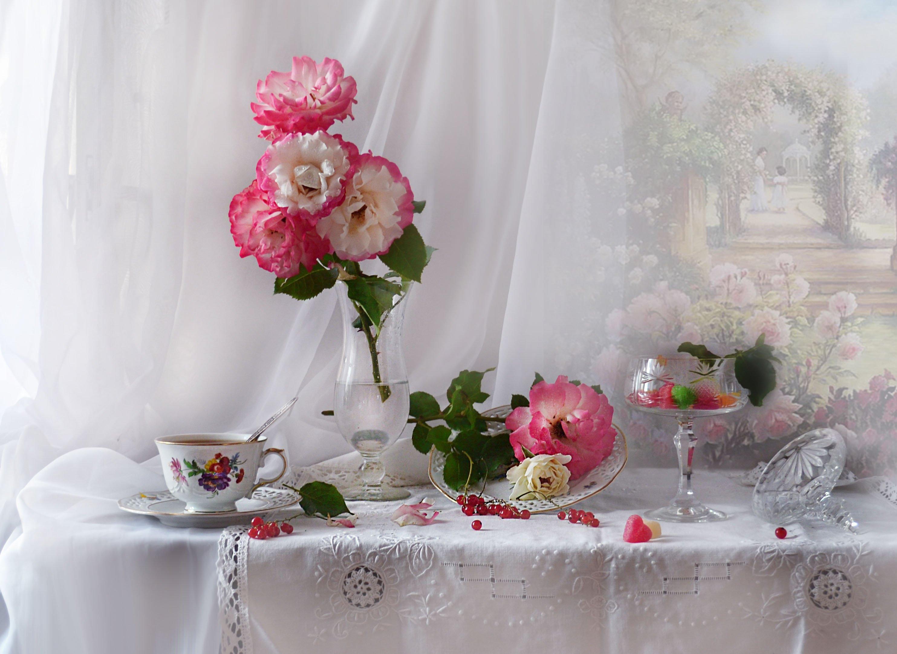 still life,натюрморт, фото натюрморт, розы, цветы, фарфор, стекло, настроение, лето, июль, Колова Валентина