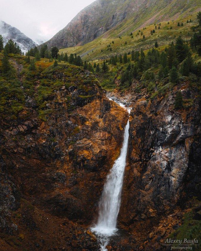 горы, водопад, природа, река, Алексей Байфа