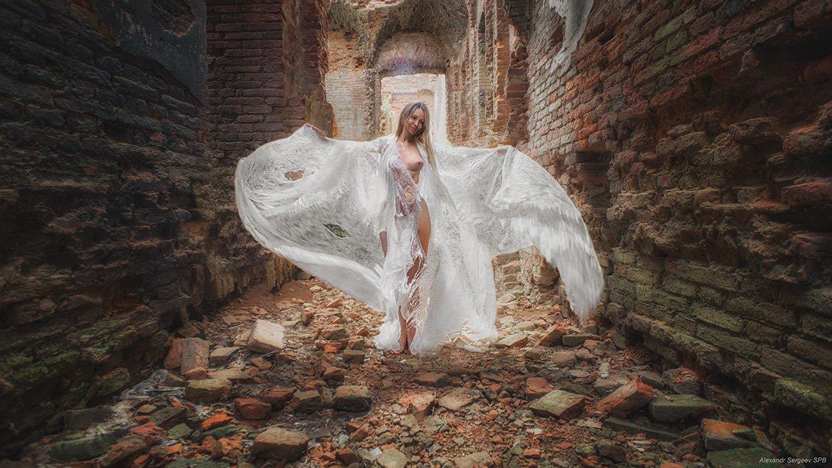 девушка,обнажённая,фэнтези,заброшка,призрак,стилизация,арт,фото-арт, Сергеев Александр