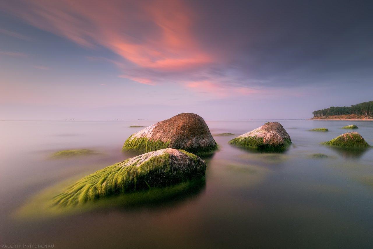 море, пейзаж, природа, закат, вечер, sunset, nature, seascape, sea, Валерий Притченко