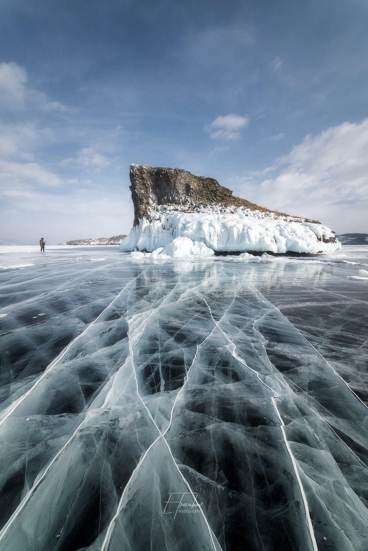 байкал, зима, лед, снег, облака, остров, день, ольхон, мыс, Евгений Трезубов