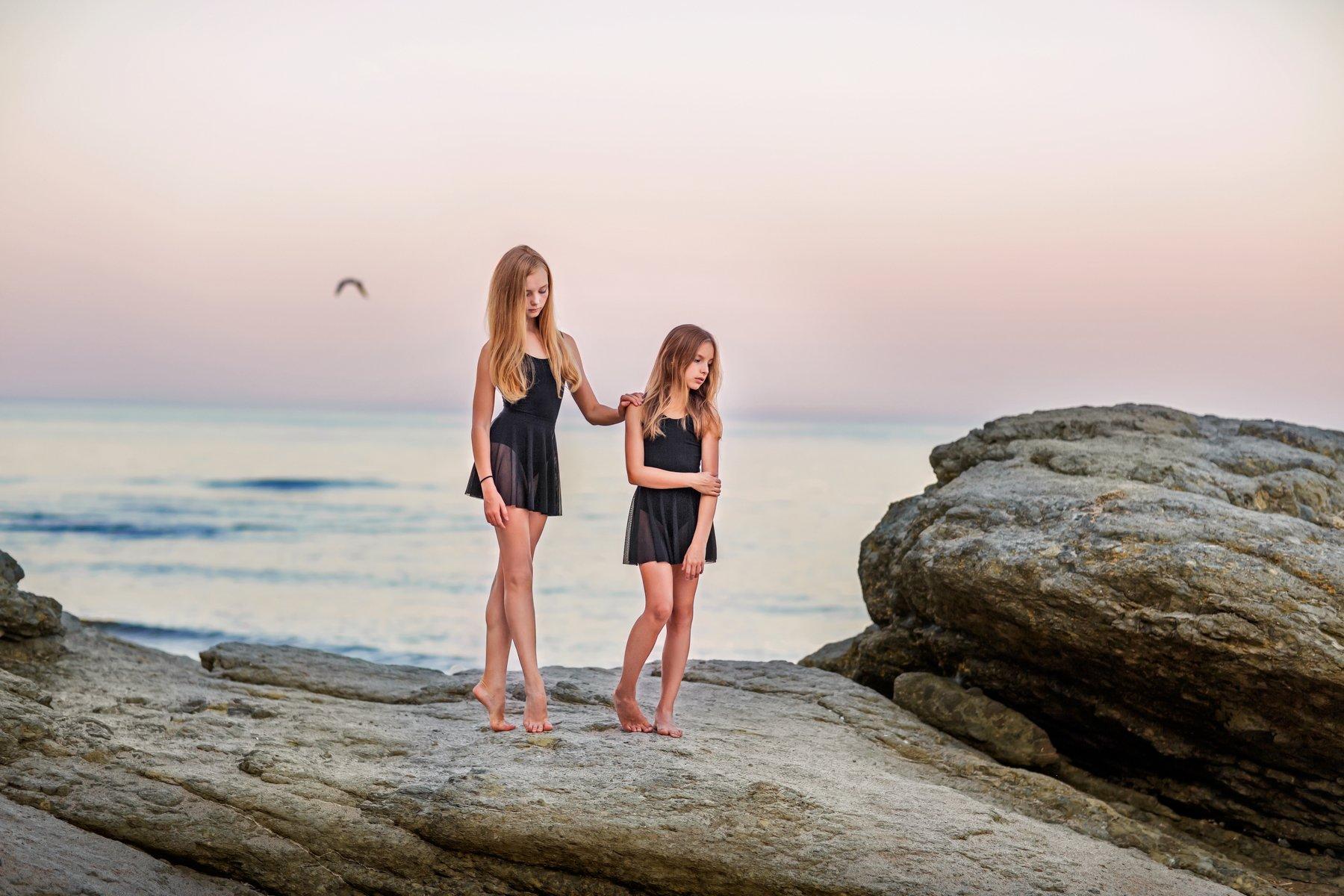 девушка, модель, море, портрет, Бармина Анастасия