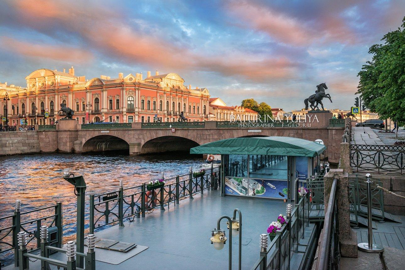 санкт-петербург, аничков мост, фонтанка, кони, Юлия Батурина