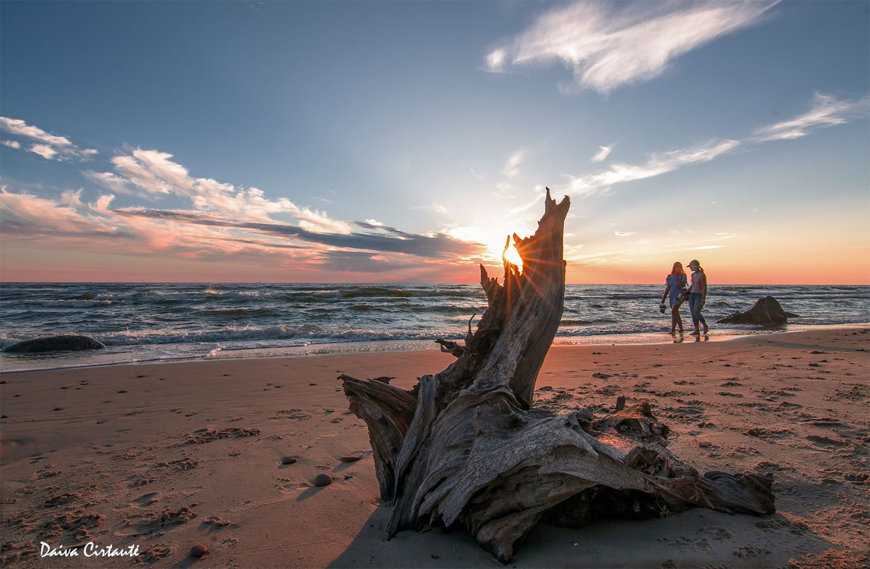 sunset,clouds,evening, sea,people, Daiva Cirtautė