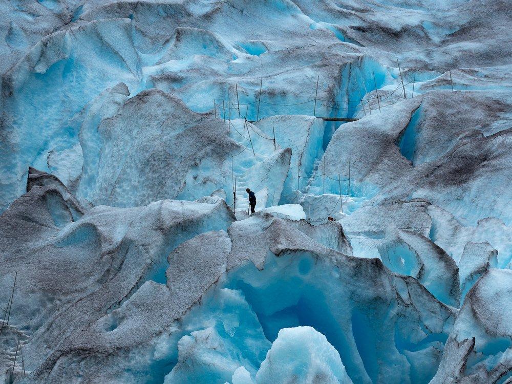 лед ледник снег альпинист, Oleg