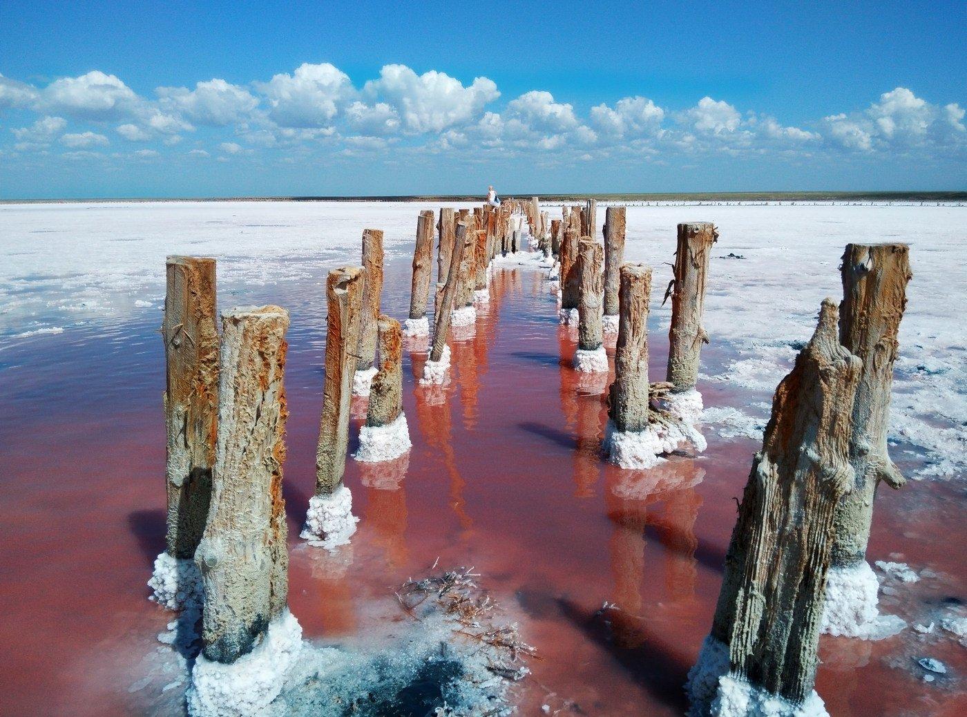 розовое озеро,соль,пейзаж,вода,арабатская стрелка, Сергей Богачёв