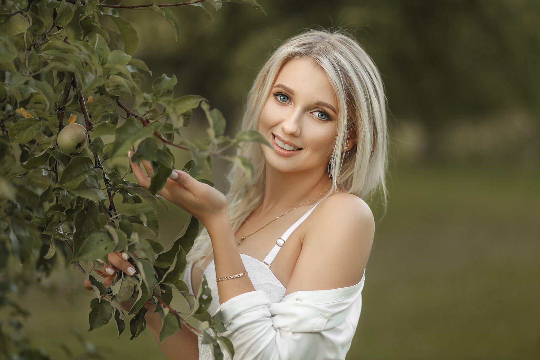 портрет арт art девушка красота модель природа сад лето, Баринова Аполлинария