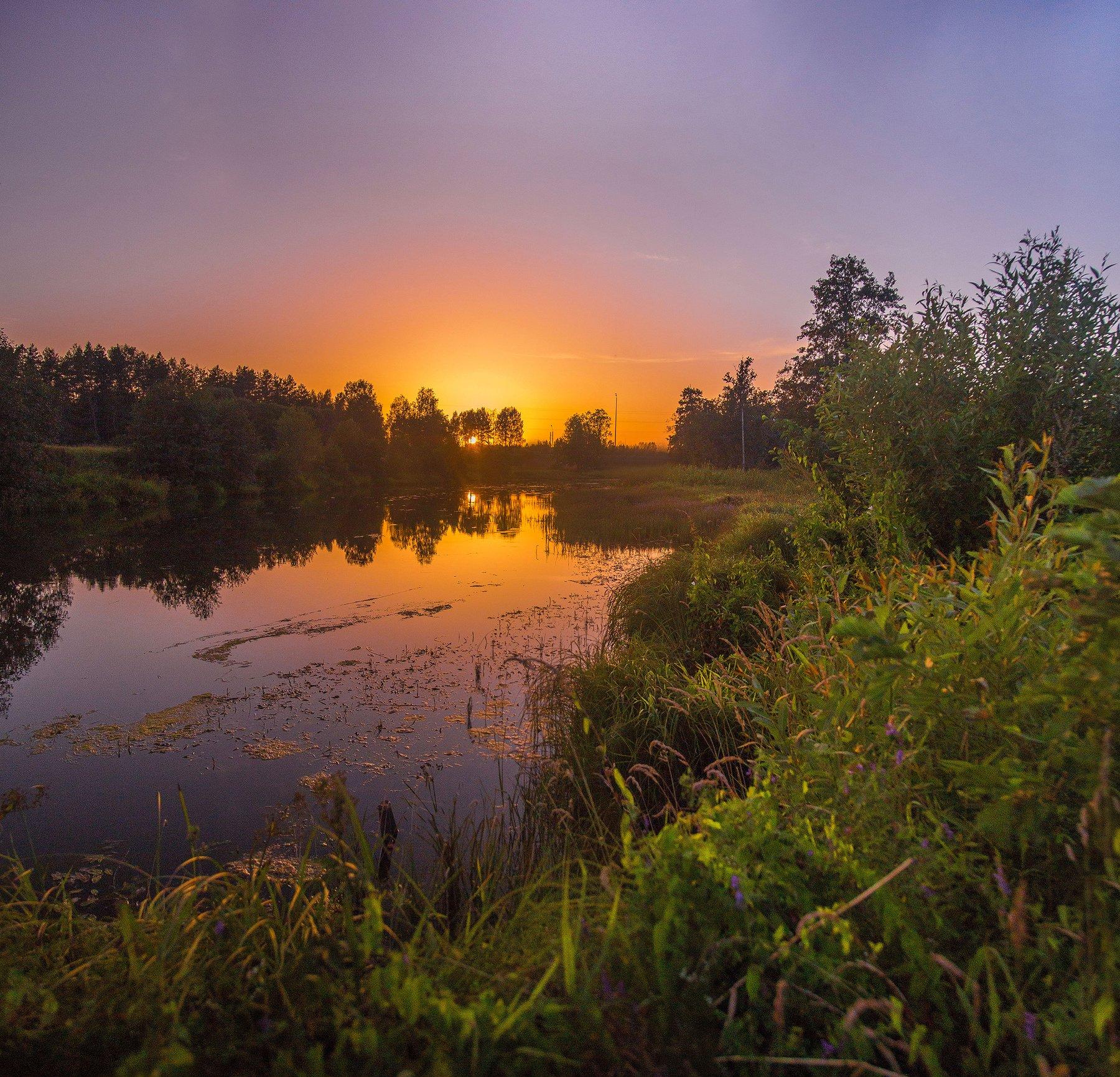 Россия, закат, иваново, Ивановская область, Воробьёв Евгений