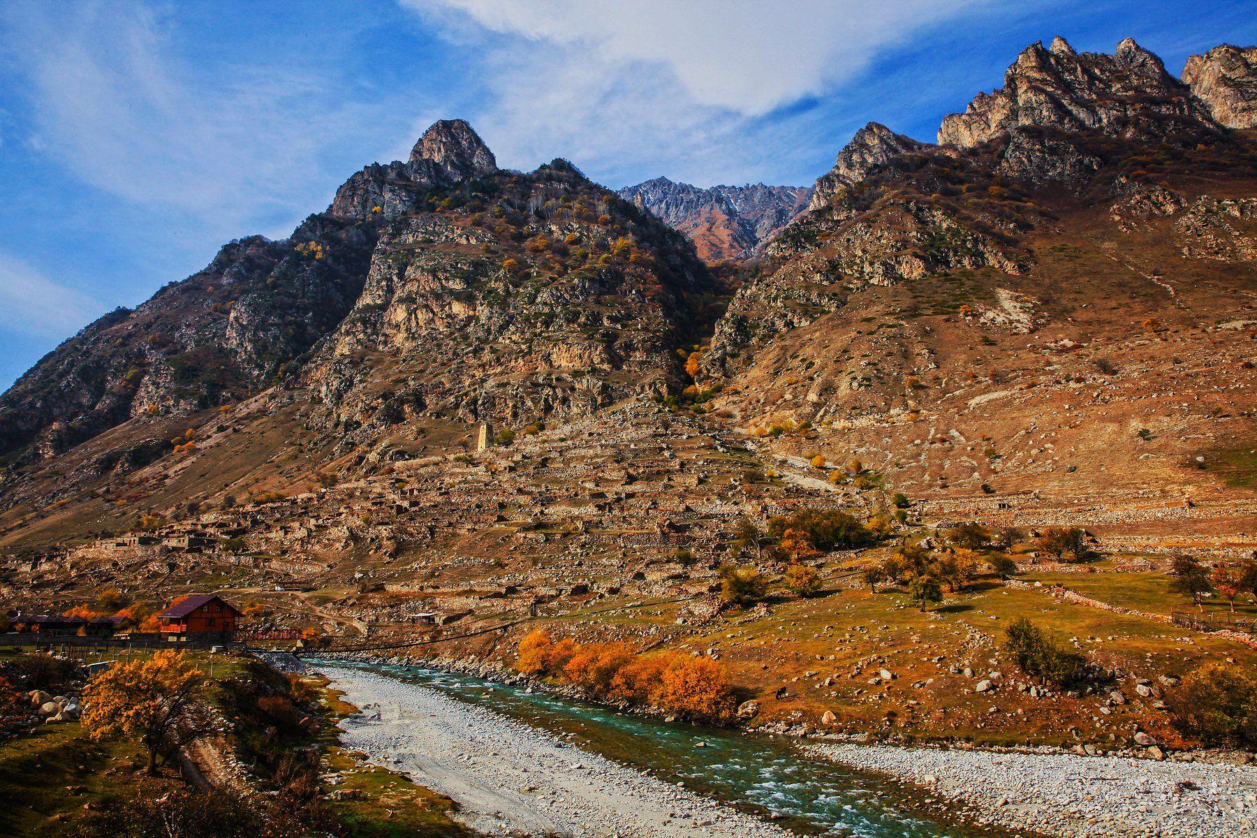 аул,горы,село,осень,кабардино балкария., Марат Магов