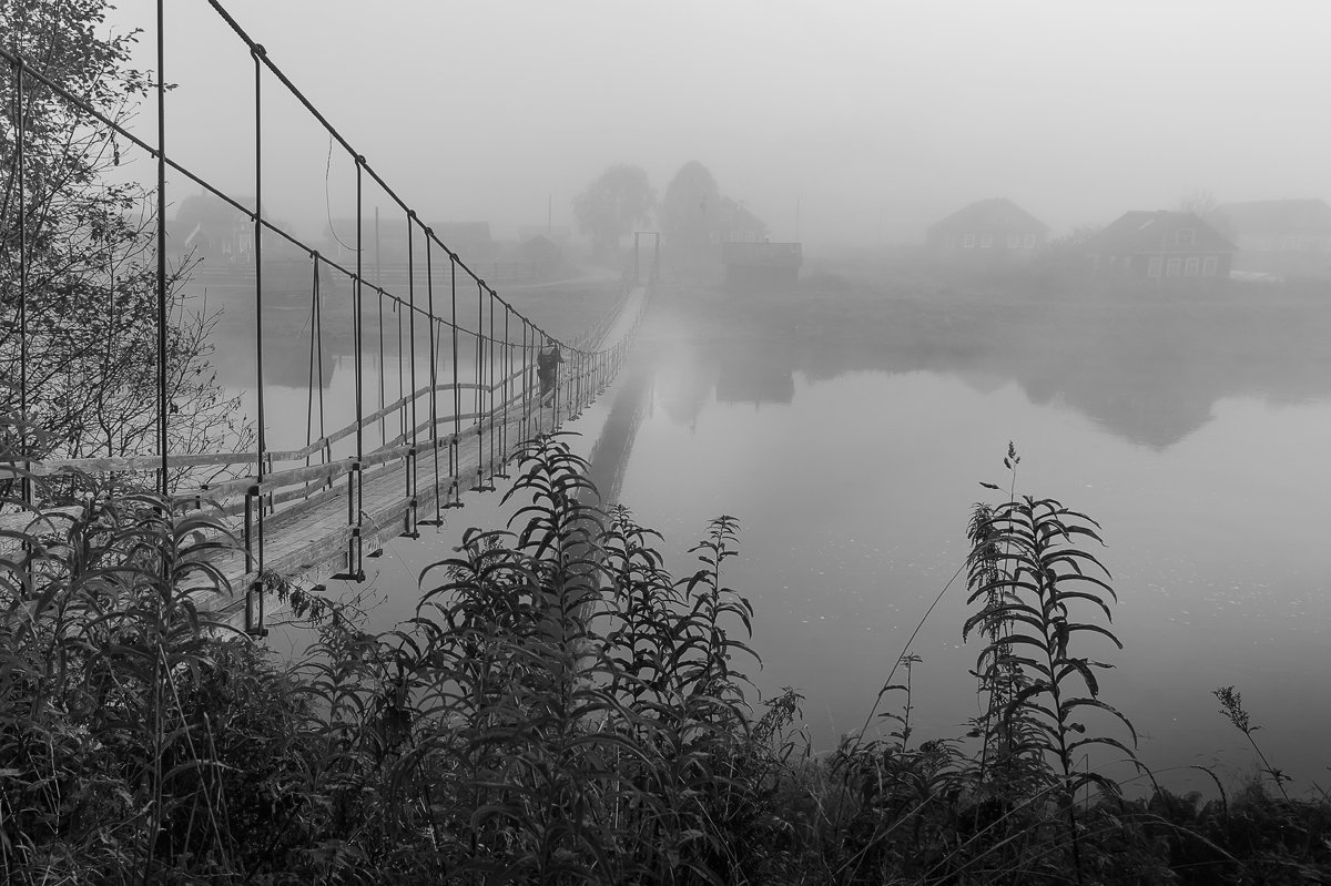 утро,природа,туман,пейзаж,мост,россия,жанр, Юлия Лаптева