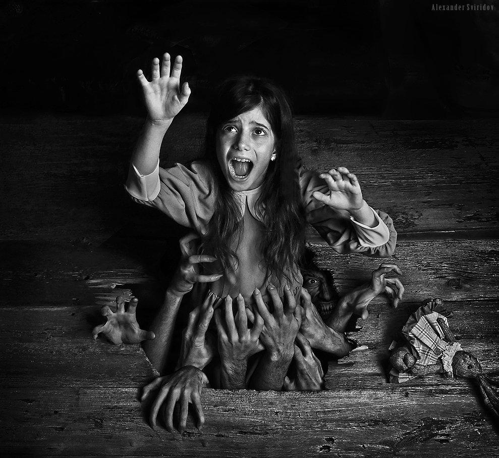 scary girl help, Alexander Sviridov