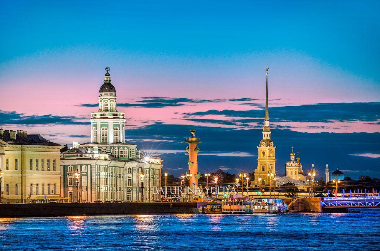 санкт-петербург, белая ночь, кунсткамера, петропавловская крепость, Юлия Батурина